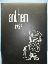 1958 Anthem, Brentwood High School, Pittsburgh, Pennsylvania Yearbook