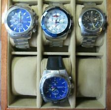 LOT OF 4 ANDROID CHRONOGRAPH WATCHES w/BURLWOOD CASE AD695 AD538 AD522 AD684