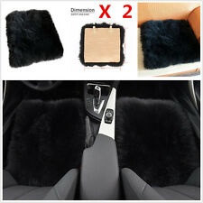 2×Genuine Sheepskin Long Wool Car Seat Chair Cushions Pad Breathable Soft Cover