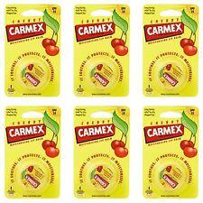 Carmex bálsamo De Labios Hidratante pot Cherry labios agrietados-Paquete De 6