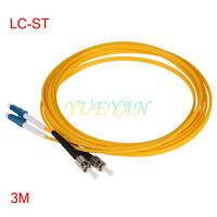 3M Fiber Optic Single-Mode Duplex Patch Cable Jumper Cord ST UPC to LC UPC