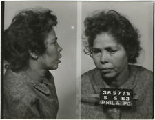 Photo Bertillon identification Policière Police Mug Shot Usa Philadelphia 1963