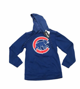 New Mens MLB Chicago Cubs Blue Pullover Hoodie Fanatics Small