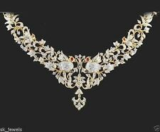 9.27ct ROUND DIAMOND RUBY 14k SOLID YELLOW GOLD WEDDING ANNIVERSARY NECKLACE