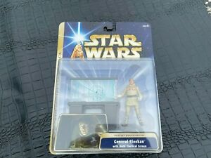 2003 MIP Star Wars General  Rieekan Figure with Hoth Tactical Station (S12-BX5)