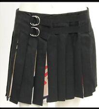 GFF GIANFRANCO FERRE Italian Black PLEATED MINI Wrap Skirt Size 38