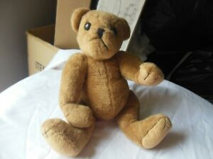 "Vintage Stuffed Teddy Bear, Jointed Arms, Legs & Head, 9-1/2"" Tall, Great Condi."