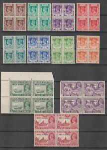 s38419 BURMA 1945 MVLH* MILY ADMIN 15v missing 3/6a block of 4