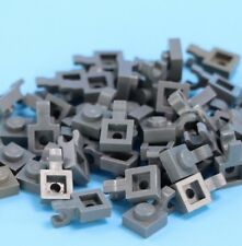 LEGO  Lot of 50 Light Gray 1x1 Plate w holder - can combine shipping