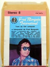 CARTRIDGE TRACK TAPE CASSETTA STEREO 8 FRED BONGUSTO COLONNE SONORE 1973