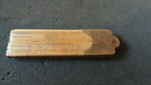 "Vintage, Wooden, Multi Hinged, Fold Out, 12"" Ruler. Brass (?), Hinges & Ends (?)"