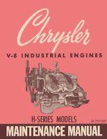OEM Repair Maintenance Shop Manual Chrysler V-8 Industrial H-Series Engines 1963