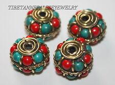 Nepal beads 4 Nepalese Beads Tibet Beads handmade beads turquoise beads B179