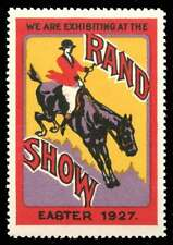 South Africa Poster Stamp - 1927 Rand Show - Horse Jumping