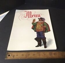 1950's Old Style Beer Lager Menu Cover Vintage Original Very Clean
