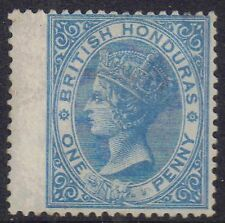 Britrish Honduras 1865 1d One penny Pale blue Victoria sg 1 Mint Hinged