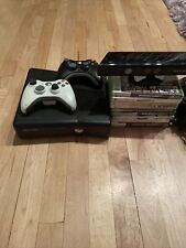 Xbox 360 S Slim 1439 250Gb Kinect Sensor 10 Games 2 Controllers Bundle Tested