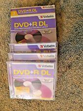 Boxed 3 Verbatim DVD+R DL 8.5GB 2.4x 240min Discs - NEW
