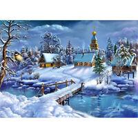 DIY diamond painting Winter snow diamond embroidery Cross Stitch mosaic decor UK