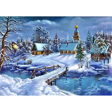 DIY diamant peinture hiver neige diamant broderie point de croix mosaïque OP