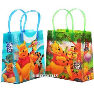 "Disney WInnie The Pooh Reusable Medium 8"" Party Favor 6 Goodie Bags ( 6 Bags )"