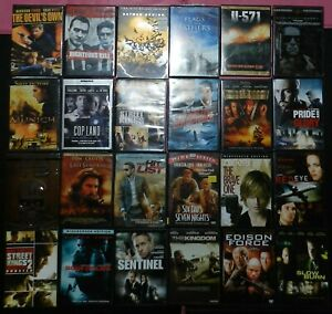 Lot of 24 DVD movies - mixed genre -  ACTION CRIME SCI-FI