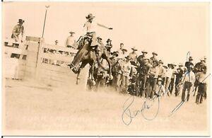 "Turk Greenough on ""Wagon Wheel"" Rodeo Cowboy Western RP Postcard"