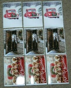 Lot 9 NEW Avanti All Christmas Red Truck Horse Dog Greeting Cards & Envelopes