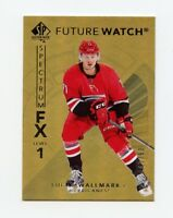 17/18 SP AUTHENTIC SPECTRUM FX GOLD #S-61 LUCAS WALLMARK /50 HURRICANES *57512