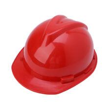 Plastic Construction Worker Hard Hat Outdoor Work Safety Helmet Red