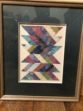 """Irene Maginniss Original Hand Colored Fabric Collage 1991  8"""" By 6"""" Excellent"""