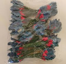 144 pcs Vtg Millinery Blue Lacquer Holly Leaf Leaves & Red Berries Hats Crafts