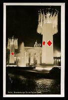 Original Germany 3rd Reich Postcard Hitler Berlin Brandenburg Gate RPPC 1930s