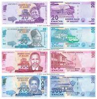 MALAWI SET 6 PCS 20 50 100 200 500 1000 KWACHA 2017 2018 2019 P 60-69 UNC