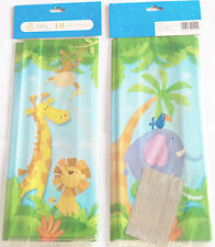50 x JUNGLE BABY ANIMAL CELLOPHANE BAGS Candy Treat Party Gift Sweet Cello Bag
