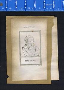 Menander, Greek dramatist & Lorenzo de' Medici, Italy -1809 Portrait Prints
