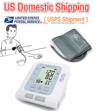 Digital Lcd Upper Arm Blood Pressure Monitor Heart Beat Meter Machine Tonometer