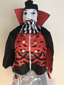 Boys Girls Fancy Dress Vampire Halloween Costume  With Mask Cape Age 7-8 Years