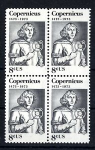 1488a  COPPERNICUS BLOCK 4 Orange Color Omitted VARIETY SOLD AS IS