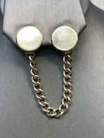 Ladies 1950's Gold Tone Chain Simple  Clip Scarf Clip  chain Nice Condition  5.5