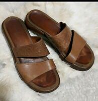 Dansko Tan Leather Slip-On Sandals-Sz 39 (8.5/9)