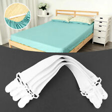 Triangle Bed Mattress Sheet Clips Grippers Straps Suspender Fastener Holder 4pcs