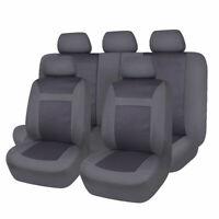 Jacquard Car Seat Covers Universal Truck SUV Van Protectors Durable Black Grey