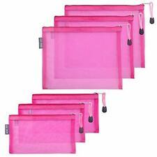 HRX Package Nylon Mesh Makeup Bags with Zipper 6PCS Cosmetic Pouches Pen Penc...