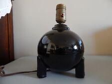Cliftwood Morton Pottery Lamp Black Art Deco Period Original Label