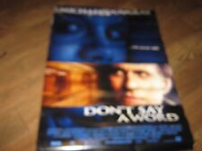 """Vintage Don't Say A Word Michael Douglas Large  Movie Poster 39"""" x 27"""""""