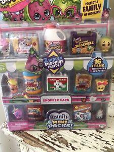 Shopkins Family Mini Packs Shopper Pack Season 11 - NEW - 16 Piece Set