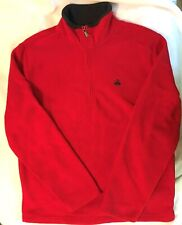 "BROOKS BROTHERS ""346"" Mens  Red Fleece 1/2 Zip Sweater-Size L-EUC"