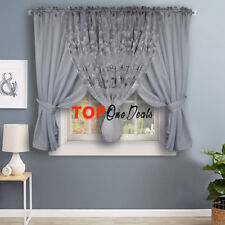 Voile Net Curtains Ready Made Printed Floral Living Dining Room Bedroom Modern
