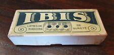 BOITE CARTON - LOT de BOITES de LAMES de RASOIR ANCIENNES - IBIS -